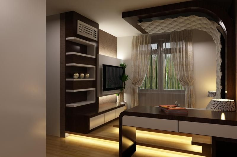 Modern Bedroom With Tv modern bedroom designs - attached study and walk-in closets