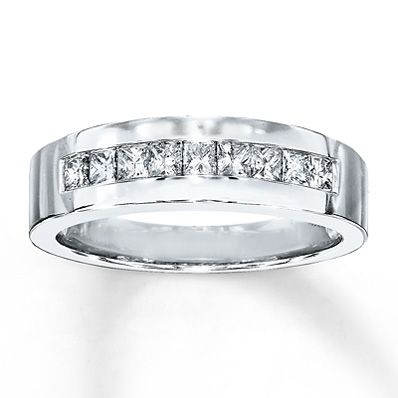 Trying To Convince Dan Diamonds Are Great Mens Diamond Band Diamond Bands White Gold