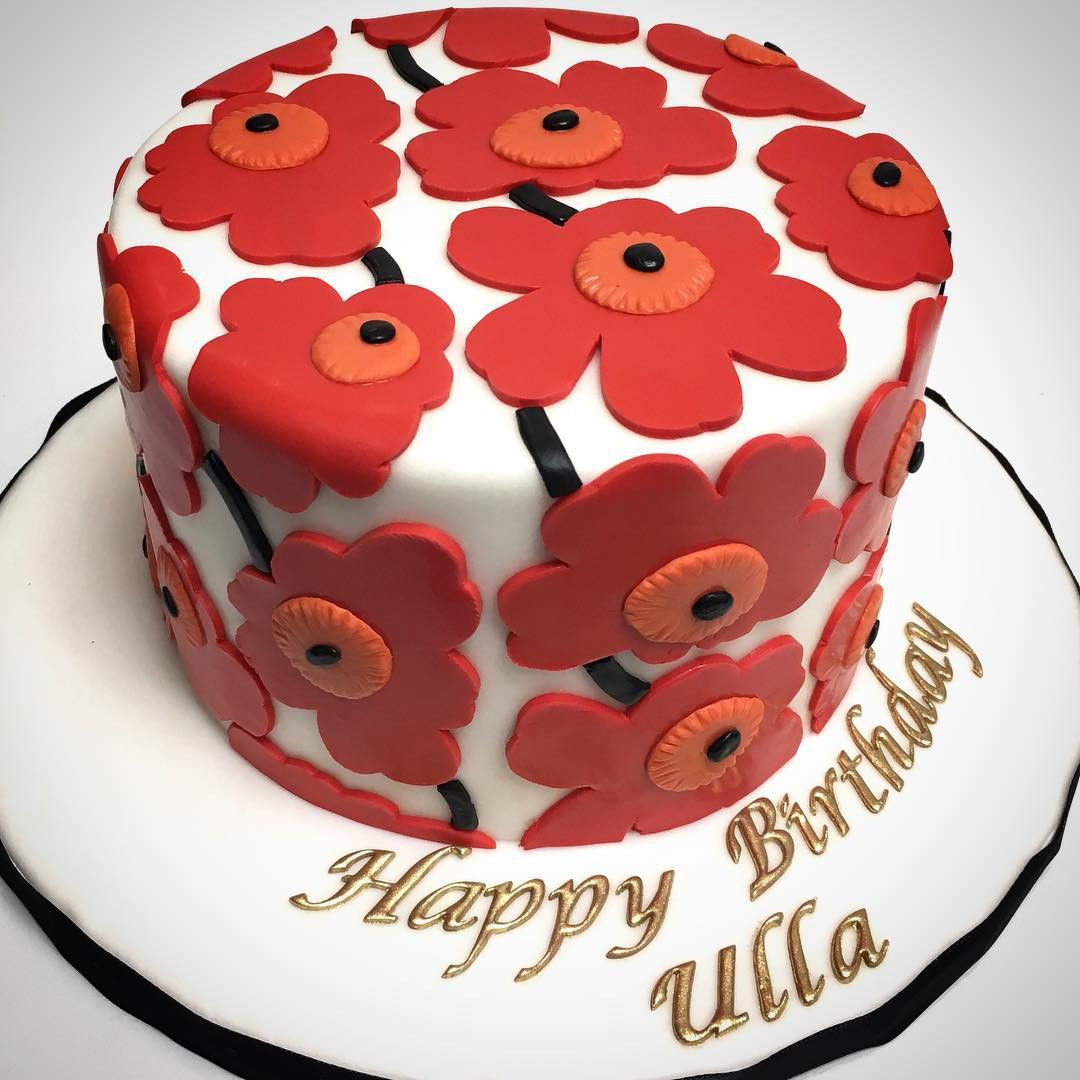 Happy Birthday to Ulla Celebrating you with a Marimekko cake a
