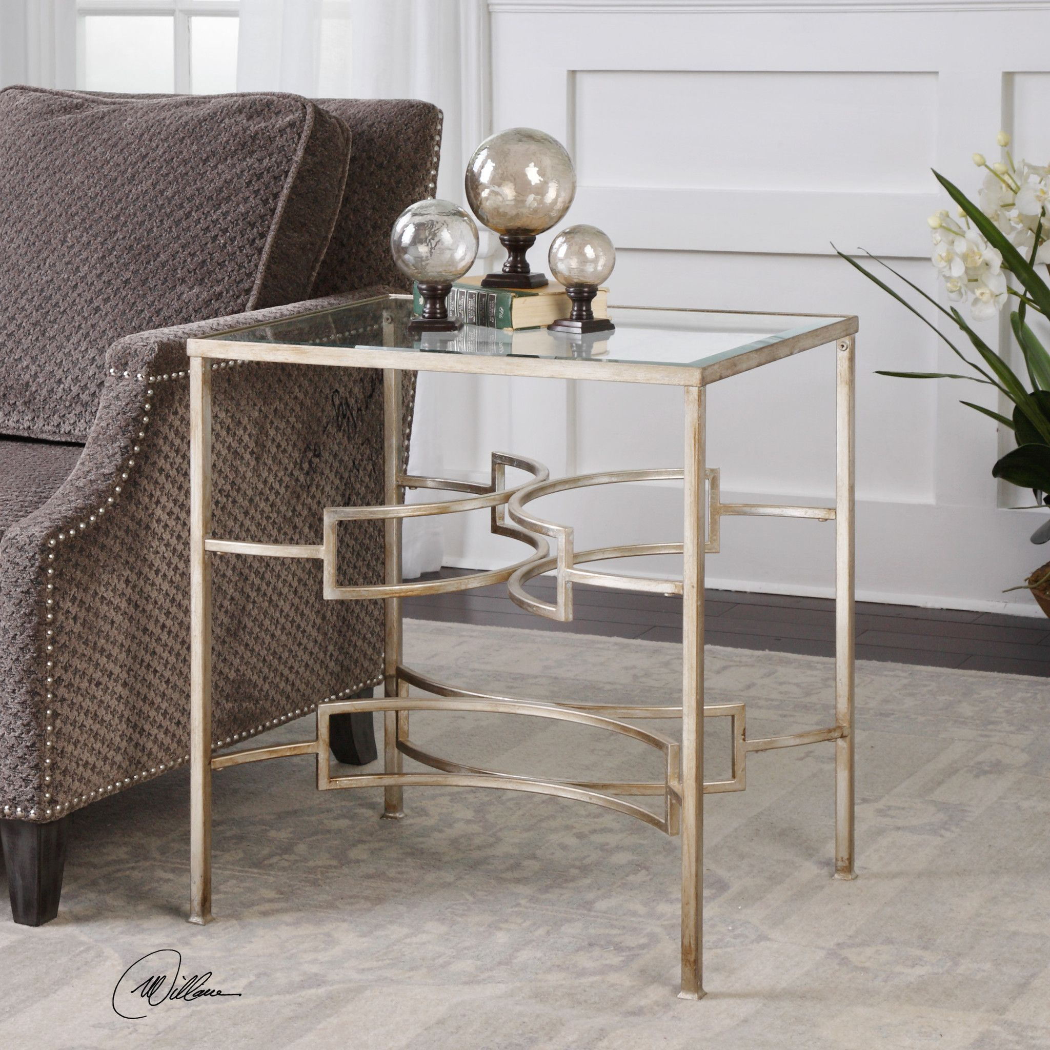 Uttermost Eilinora Silver End Table Products Pinterest Products
