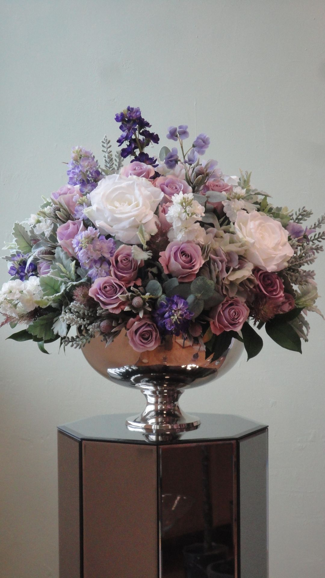 Sia Silk Flowers In Punch Bowls To Hire From Silk Petal This
