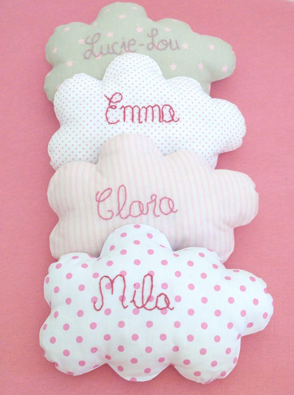 un nuage de tendresse personnalis au pr nom de votre enfant pour un cadeau de naissance. Black Bedroom Furniture Sets. Home Design Ideas
