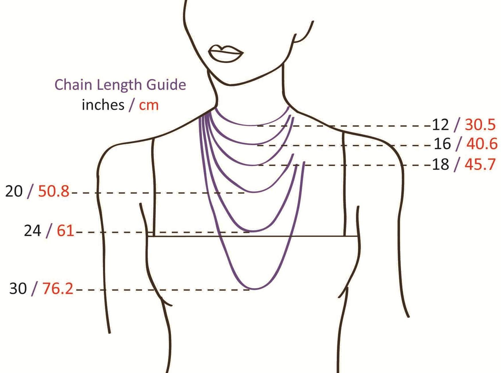 necklace chain length guide My Style Pinterest