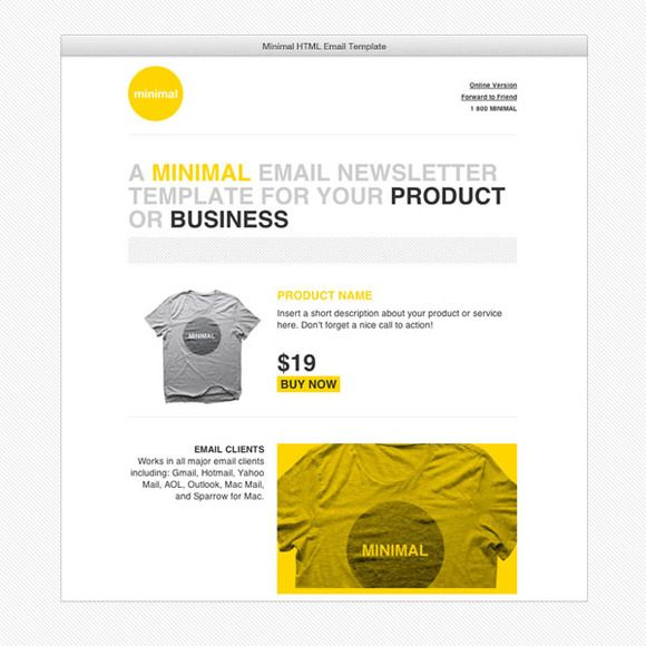 Check Out Cardeo Minimal Html Email Template By On Creative Market
