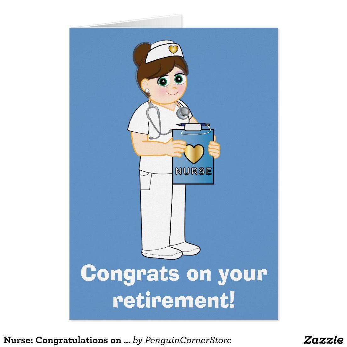 Nurse Congratulations on Your Retirement Card Zazzle