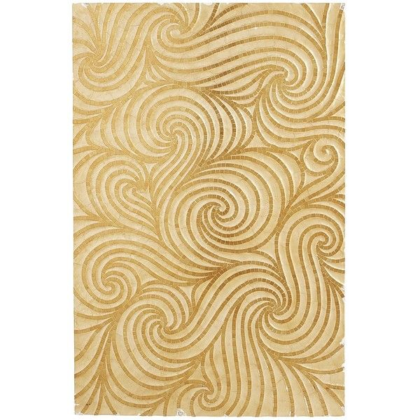 Pier 1 Imports Golden Swirls Wall Panel ($249) ❤ liked on Polyvore ...
