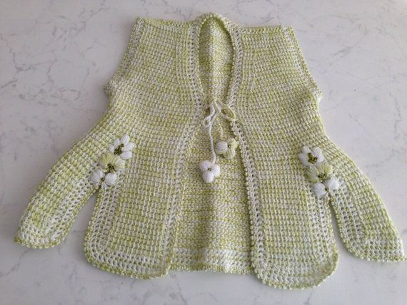 Baby Girl Vest  Handmade  6 months to 12 by elemegimgoznurum