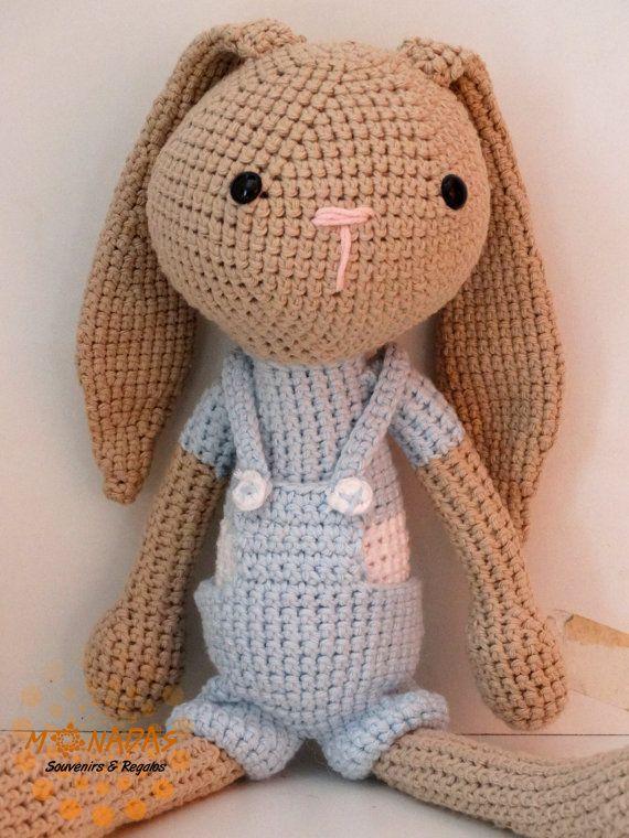 Conejo o coneja amigurumi por MonadasArgentina en Etsy | Encaje De ...