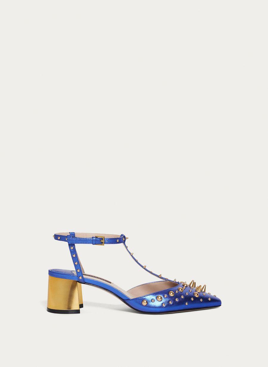 615a83d4051 Blue studded slingbacks - View all - Footwear - Uterqüe United Kingdom
