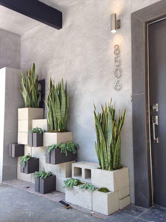 d corer son jardin avec des parpaings 20 id es pour vous inspirer diy r cup bricolage. Black Bedroom Furniture Sets. Home Design Ideas