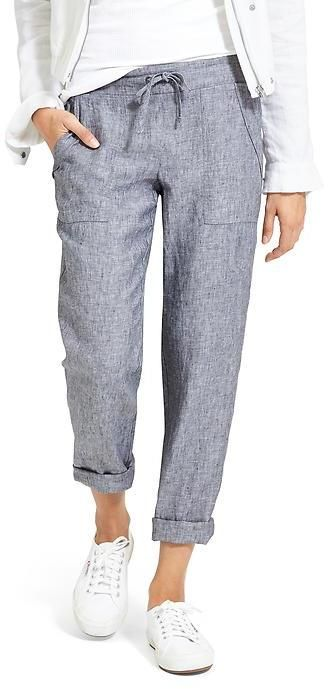 79afedd9f85 Linen Ankle Pant | fashion, style, beauty | Athleisure fashion ...