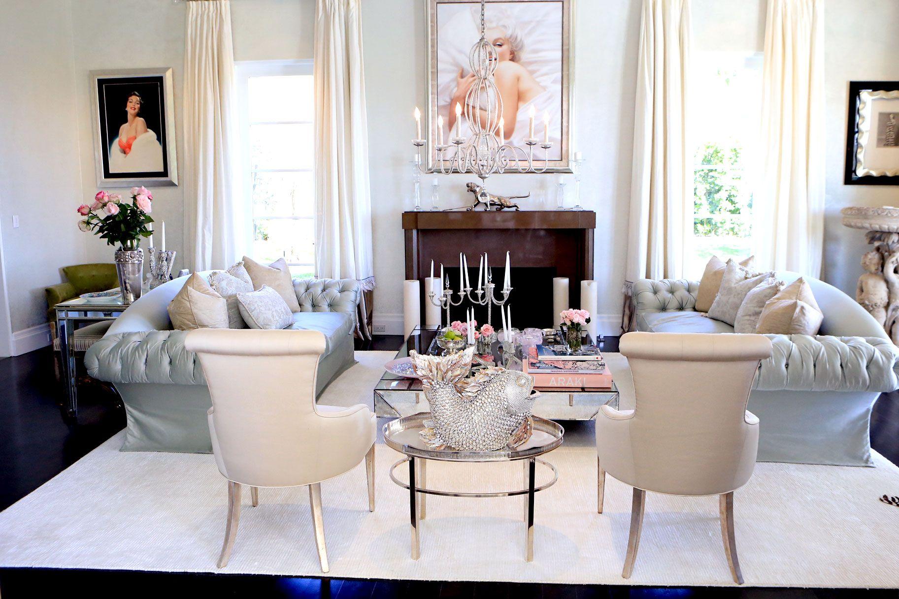 Lisa Vanderpump Home Stue Hus Inspirasjon