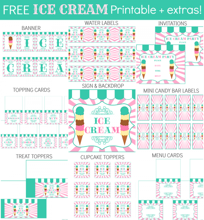 Ice Cream Collage text | Süslemeler | Pinterest
