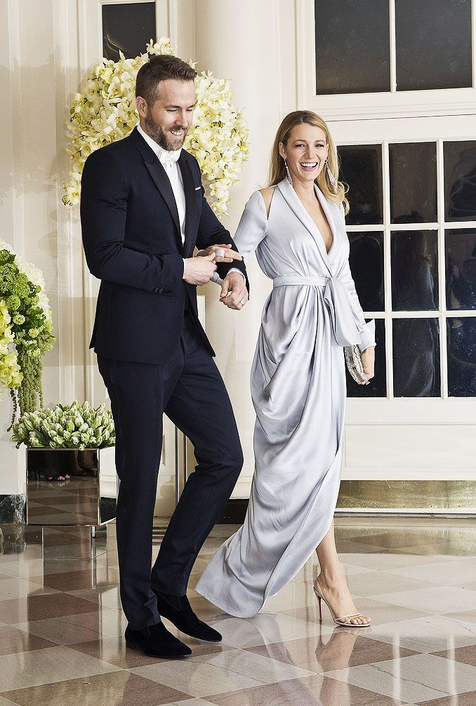 Ryan Reynolds and Blake Lively wearing Ralph & Russo to a