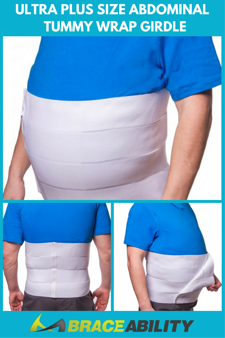 Ultra Plus Size Abdominal Tummy Wrap Girdle Over 40 And