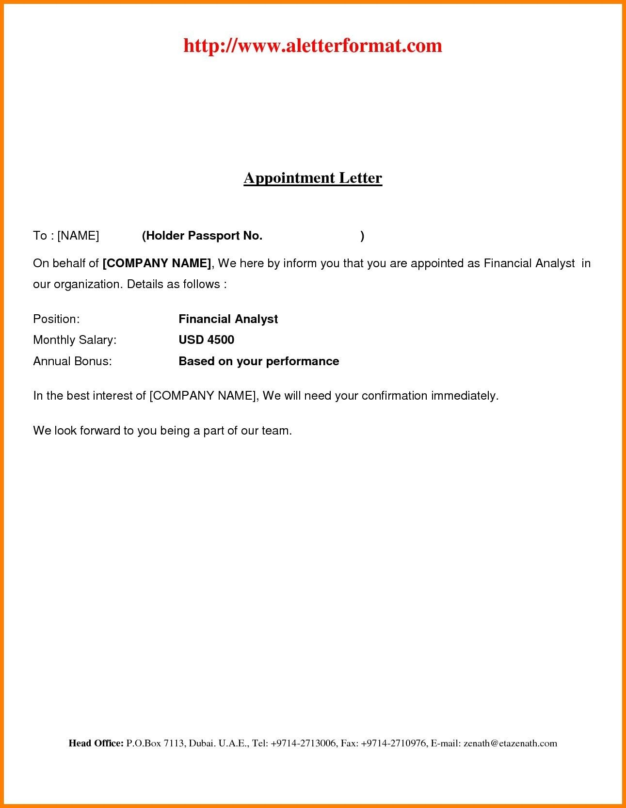 Best Refrence New Employee Offer Letter Format By Httpwaldwert