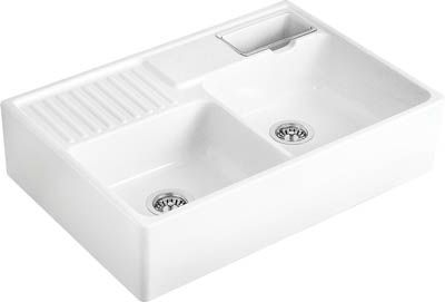 we are a leading supplier of kitchen sinks and taps with high quality well known brands available across the uk - Double Ceramic Kitchen Sink