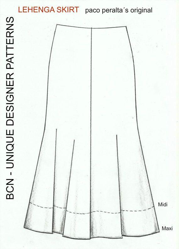 LEHENGA skirt pattern | DIY Fashion | Pinterest | Lehenga, Lehenga ...