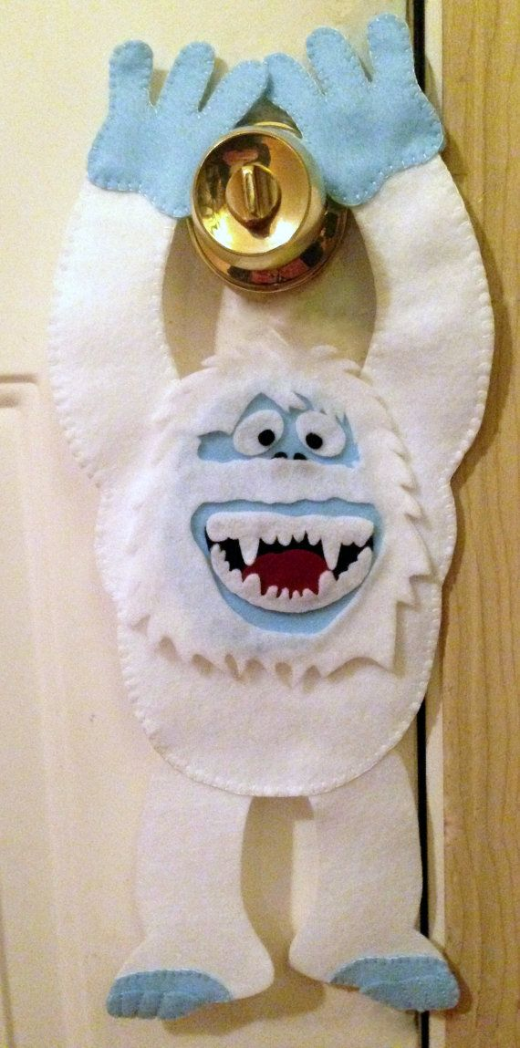 Abominable snowman door hanger snowman door snowman and for Abominable snowman holiday decoration