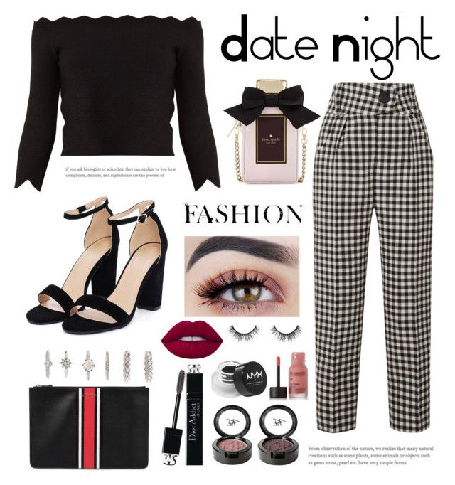 """""""Date night"""" by kimtaehyungkim ❤ liked on Polyvore featuring Petar Petrov, Nasty Gal, Beauty Is Life, Givenchy, Forever 21, Christian Dior, Alexander McQueen, NYX, Lime Crime and Velour Lashes"""