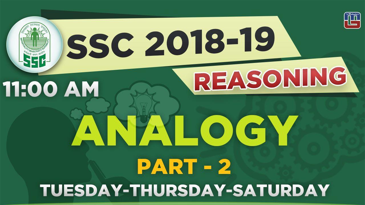 Analogy Part 2 Ssc 2018 19 Reasoning 11 00 Am Https Youtu Be Ikc0uxhtssa Math Ssc Reasoning Algebra [ 720 x 1280 Pixel ]