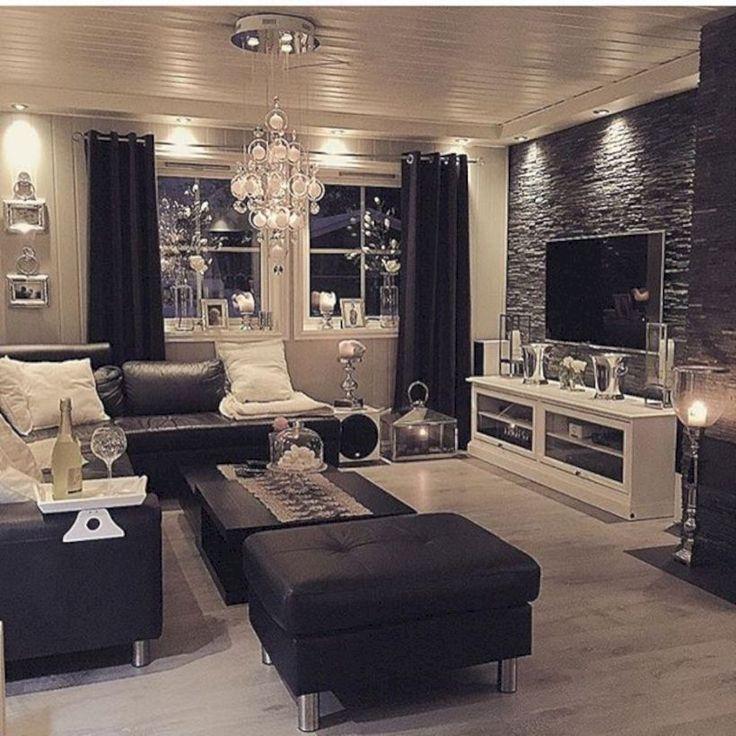 44+ stilvolle schwarze Akzentwände Schlafzimmer Ideen | Wohnung, Wohnung wohnzimmer, Wohnung ...