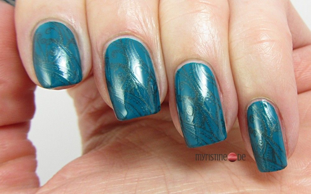 Subtle Teal Nails For Lacke In Farbe Und Bunt 14 Petrol