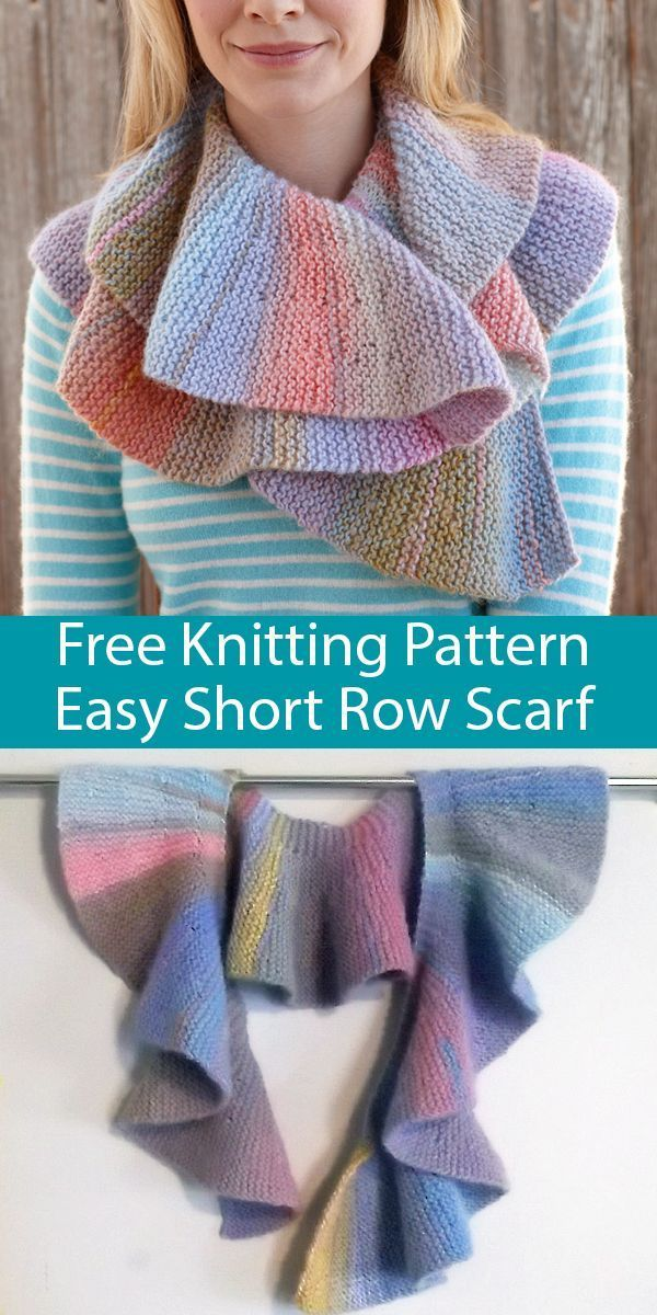 Free Knitting Pattern for Easy Short Row Scarf for Multi ...