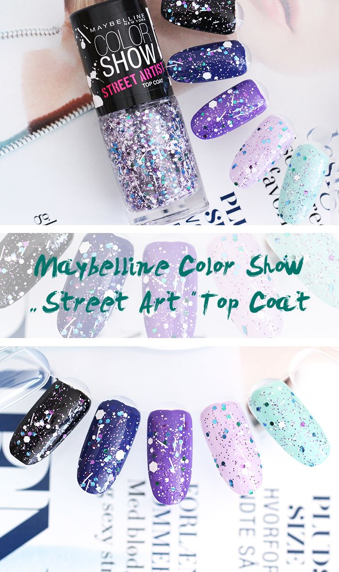 Maybelline Color Show Street Art Top Coat Nail Polish, Splatter Effect Top Coat #Maybelline #Nails