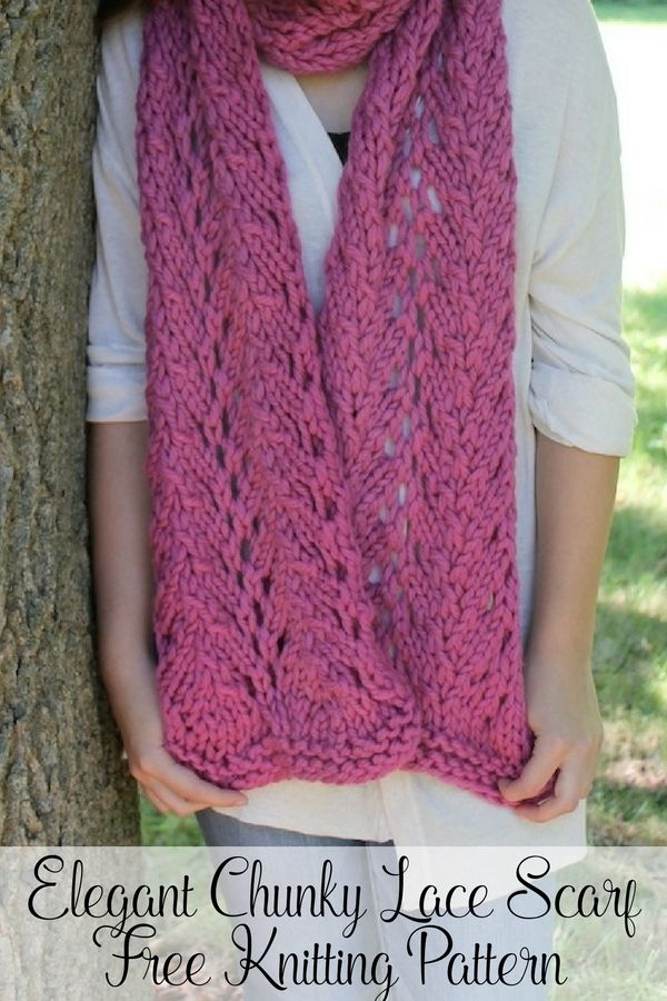 Free Lace Scarf Knitting Pattern | Easy knitting, Knit patterns and ...