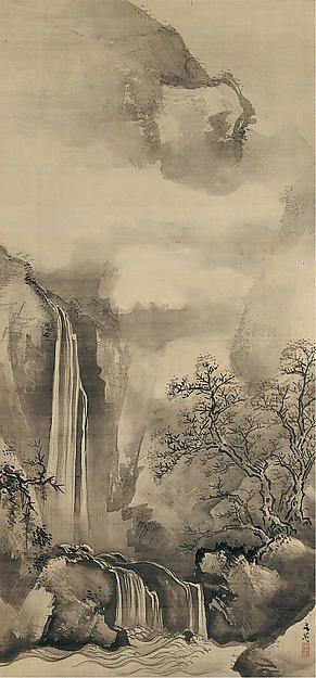Tani Bunchō | Landscape with Waterfall | Japan | Edo period (1615–1868) | The Met