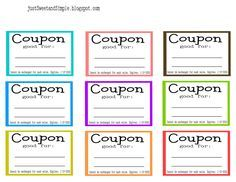 coupon book for mom printable google search mother s day
