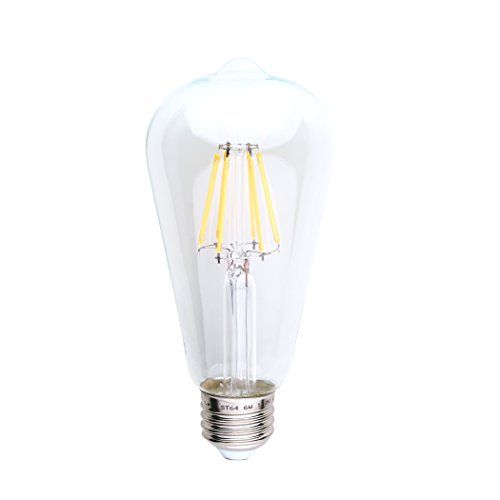 Led 6w Edison Style Light Bulb Exposed Fillament Dimmable Led Light Bulb 60w Equivalent St21st64 Antique Shape 2 Led Light Bulb Dimmable Led Lights Warm Light