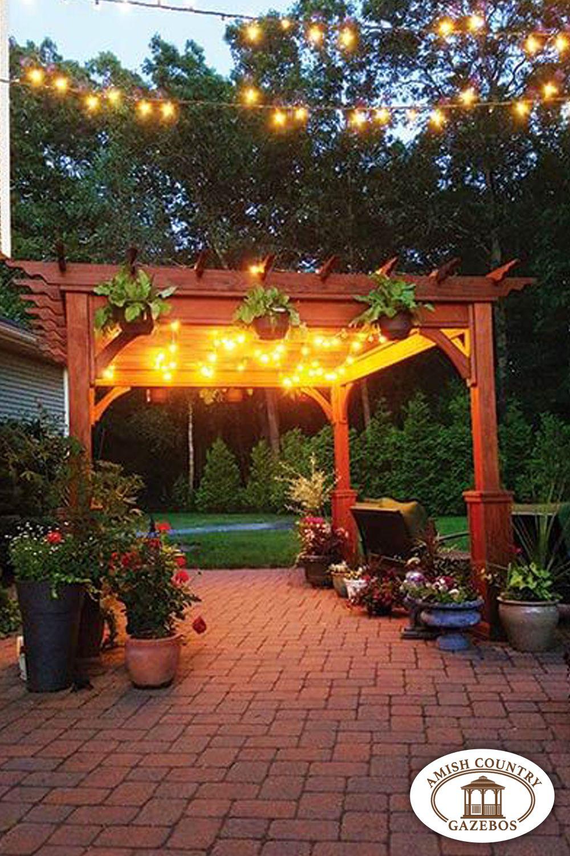 Pergola Kits Quality Made And Affordable Amish Country Gazebos Pergola Backyard Landscaping Backyard