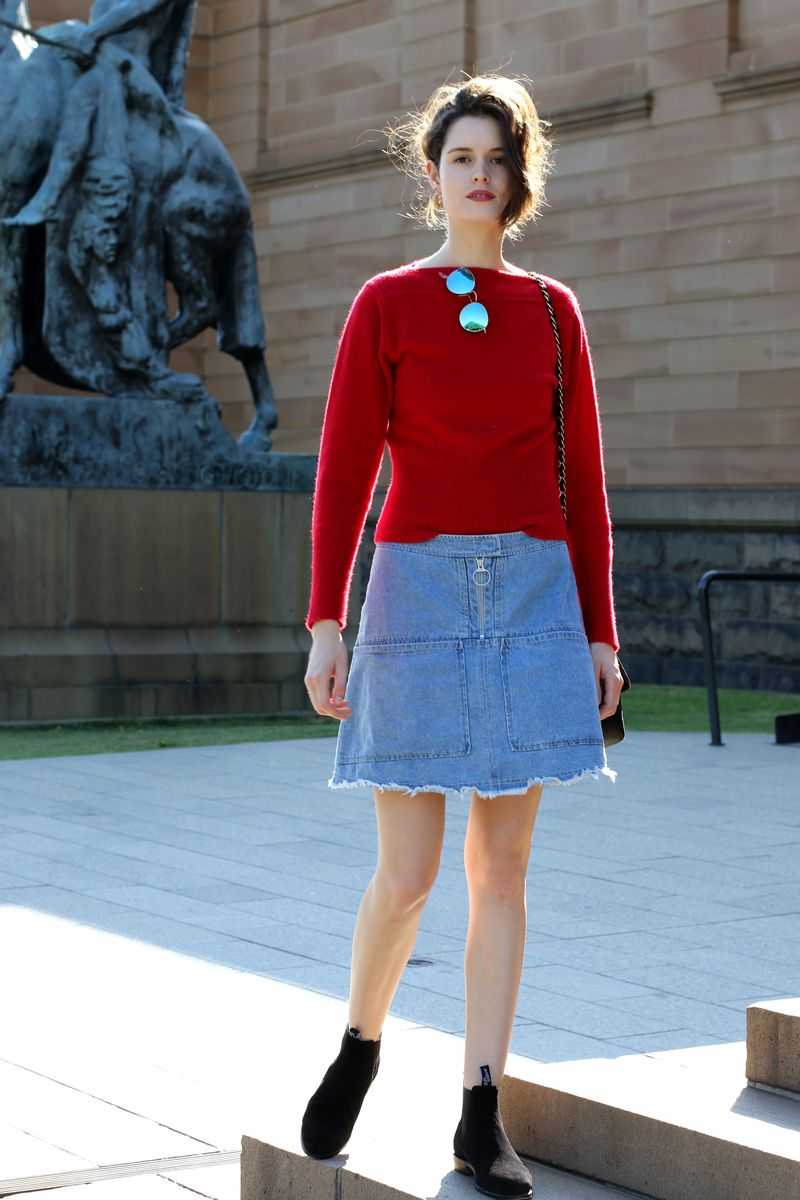 Chloe Hill Wearing Lemair X Uniqlo Fluffy Jumper Karen
