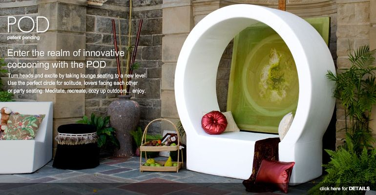 Outdoor Pod By La Fete Designs, Patent Pending Outdoor Furniture..so Cool