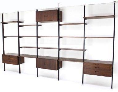 huge bay george nelson herman miller omni wall unit shelves