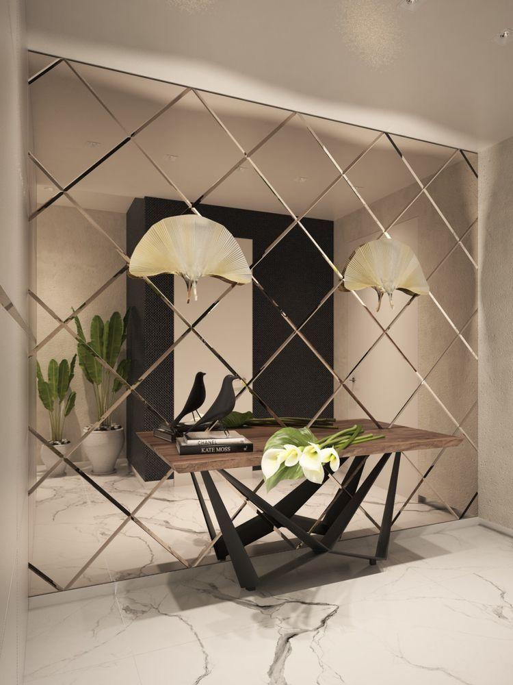Pin By Assel Baissalova On Pomysly Dol Mirror Wall Living Room Mirror Decor Living Room Living Room Mirrors Living room mirror wall decor