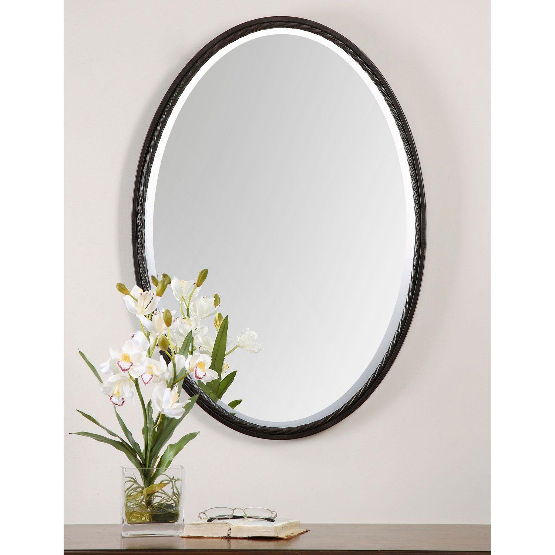 Casalina Oil Rubbed Bronze Oval Mirror Uttermost Wall Mirror Mirrors Home Decor Oval Mirror Oval Wall Mirror Mirror Oil rubbed bronze oval mirror