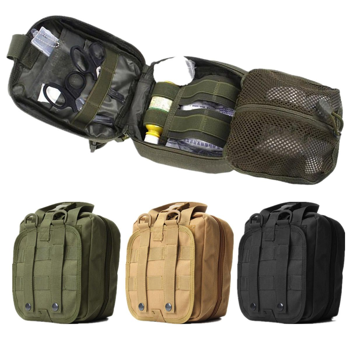 Outdoor Tactical Molle Bag EMT Medical First Aid Utility