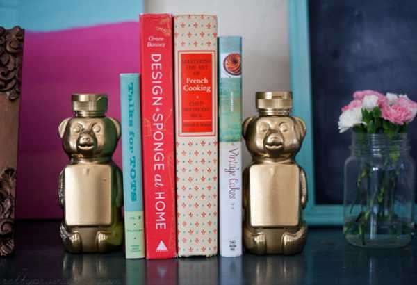 Special DIY Bookends Design for the Books Bunch : Awesome DIY Bookends Design Ideas