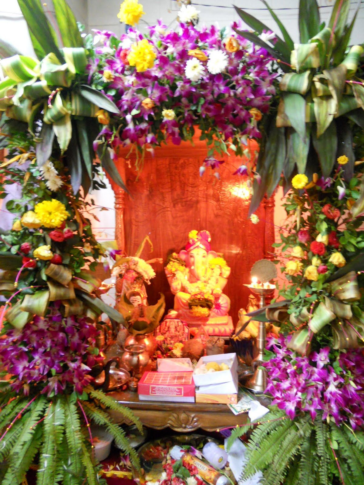 DSCN0396.jpg 1,200×1,600 pixels | Amma decoration | Pinterest ... for Flower Decoration Ideas For Ganpati  34eri