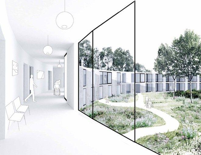 View from corridor, towards the garden, Dierendonckblancke, Care center…