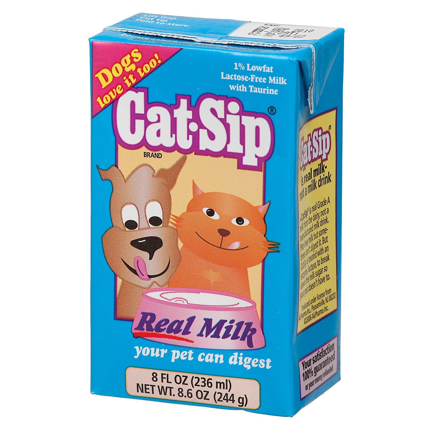 Cat Sip Real Milk My Cats Favorite Milk Without Lactose Pets Cat Food Storage Cats And Kittens