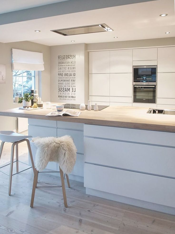 Küchenblock mit bar  So nice to use a sheepskin to soften the bar stool. | Our home ...