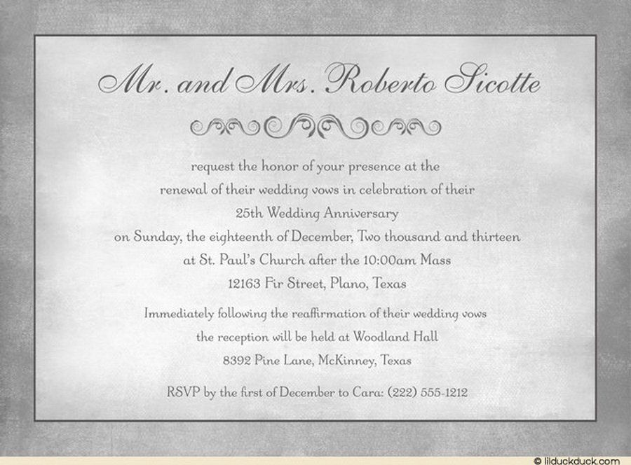 Wedding Vow Renewal Invitation Wording Party Boards Pinterest