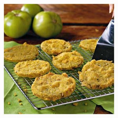 Fried Green Tomatoes with Vidalia Onion Relish, Candied Pepper Bacon and Louisiana Meunière Sauce