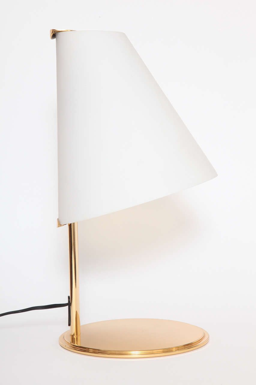 Fontana Arte Brass And Frosted Glass Table Lamp Lights Pinterest