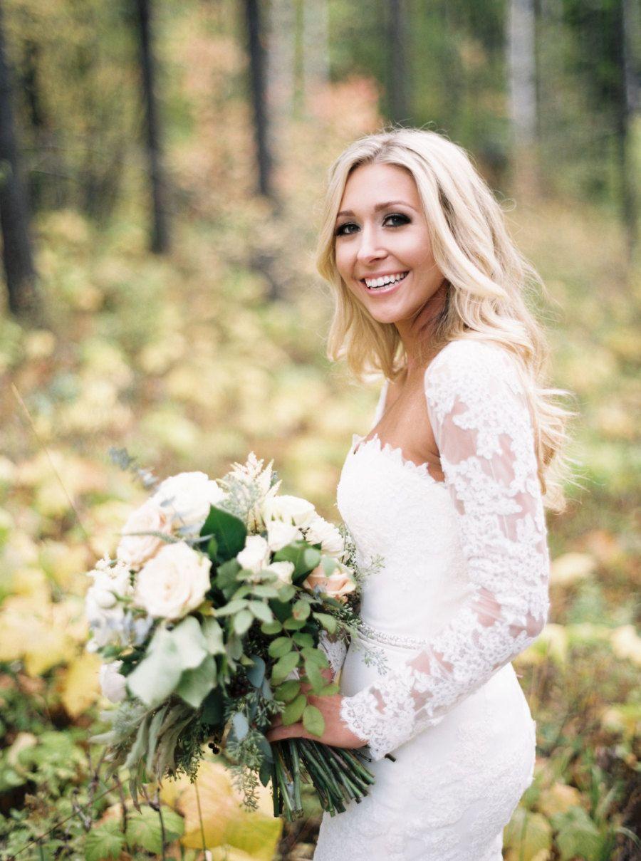 Rustic intimate northwest montana wedding wedding dress blue