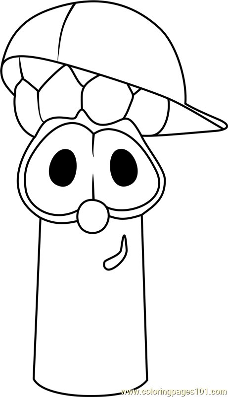 Junior Asparagus Coloring Page Free Veggietales Pages On Cartoon Veggie Tales Coloring Pages Robin Snow White Coloring Pages Free Coloring Pages Coloring Pages